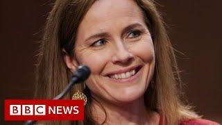 Amy Coney Barrett: Trump Supreme Court nominee sidesteps questions - BBC News