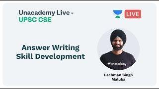 Answer writing skill development | UPSC CSE | by Lachman Singh Maluka