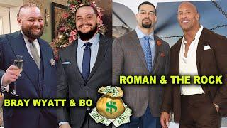 10 Richest WWE Families in Real Life - Roman Reigns & The Rock, Bray Wyatt & Bo Dallas