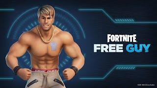 """How To Get The FREE """"Good Guy"""" Emote!  (Our First Look At The FREE GUY Skin - Fortnite X FREE GUY)"""