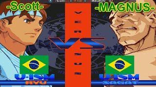 Street Fighter Alpha 3 - -Scott- vs -MAGNUS- FT10