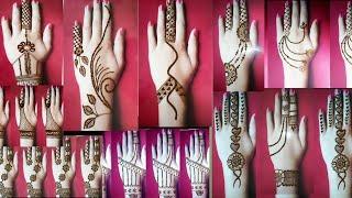 Top 30 Mehndi design for back hand Stylish Mehndi designs  Mehandi ke Designs  Cone Designs