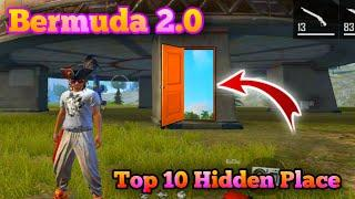 Top 10 Hidden Place In Bermuda 2.0 | Bermuda Remastered | Free Fire