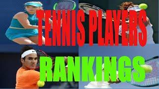Tennis: Ranking History of Top 10 Men's Tennis Players (1990-2019)| Data ranker | Data visualization
