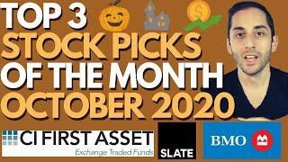 TOP 3 DIVIDEND STOCK PICKS OF THE MONTH | OCTOBER 2020 | PASSIVE INCOME INVESTING | REITs | ETFs