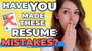 7 Resume Mistakes To Avoid in 2020 (+ Resume tips you need to fix them!)