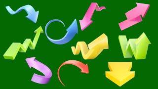 Green screen top 10 arrow। best green screen arrow effect । Top 10 animation arrow। VFX Arrow effect