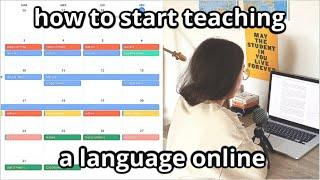 How to start teaching a language online (tips from an online Italian teacher) [EN]