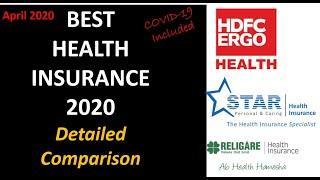 Best Health Insurance 2020 April in hindi | Comparison | HDFC ergo vs Star health Vs Religare health
