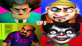 TOP 5 Scary Teacher 3D VS Scary Robber Home Clash VS Scary Stranger 3D VS Scary Vampire 3D KIDS GAME