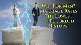 Loss for society, win for men? Men are saying NOPE to the institution of marriage at historic rates.