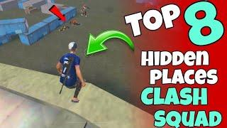 Top 8 Clash Squad Secret Place || Tips and Tricks Garena Free Fire || ONE DAY GAMING || NEW PLACES