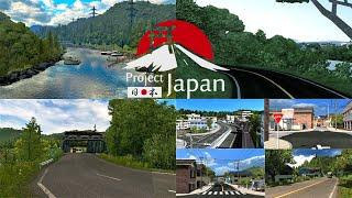 Project Japan 0.3.2 For 1.36.x.x | Review + Link | Euro Truck Simulator 2 Map|Realistic Map of Japan