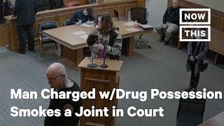 Man Charged with Drug Possession Smokes a Joint in Court | NowThis