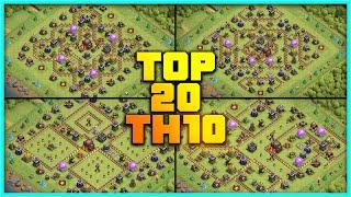 New Best Th10 base link War/Farming Base (Top20) With Link in Clash of Clans - th10 war base 2020