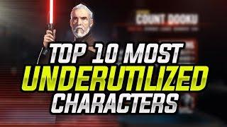 Top 10 Most Underutilized Heroes in SWGoH! | Star Wars: Galaxy of Heroes