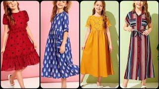 New creative 5 to 10 year easy to make designer girls top g cotton casual wear girls frocks designs