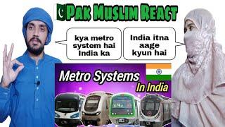 Top 10 Biggest Metro Rail in India | Top 10 Metro system Metro in India | PAKISTAN REACTION