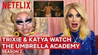 Drag Queens Trixie Mattel & Katya React to The Umbrella Academy Season 2 | I Like to Watch | Netflix