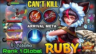 Ruby Unkillable Play with ARRIVAL META - Top 1 Global Ruby 钐 N4c̶h̶o̶ - Mobile Legends