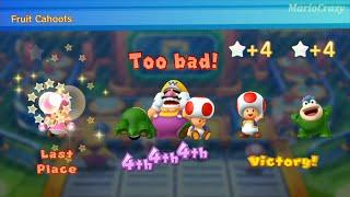 Mario Party 10 - Toad vs Spike vs Toadette vs Wario - Airship Central