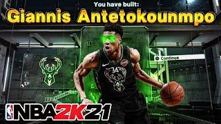 NBA 2K21 Giannis Antetokounmpo Build!! DEMIGOD PLAYMAKING SLASHER!!! BEST POINTFOWARD BUILD 2K21