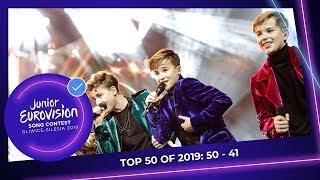 TOP 50: Most watched in 2019: 50 TO 41 - Junior Eurovision Song Contest