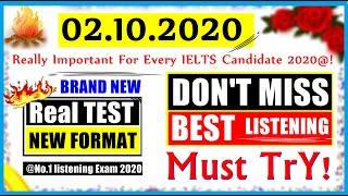 IELTS LISTENING PRACTICE TEST 2020 WITH ANSWERS | 02.10.2020 | NEW REAL IELTS LISTENING