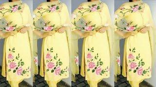 Top 10 Most Beautiful Trending Hand Painted Suit Design || Hand Painting | Punjabi suit | Sweetshanu