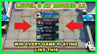 LEVEL 9 AT ROUND 11 - BEST MYTHIC MAGIC CHESS STRATEGY - Mobile Legends Bang Bang