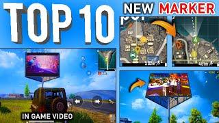 TOP 10 NEW FEATURES IN PUBG MOBILE   PUBG NEW UPDATE