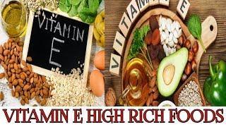 Vitamin E/vitamin e rich food/vitamin e rich fruits/top 10 foods high in vitamin e