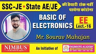 Live Class SSC JEn And State AE/JE    Basic Of Electronics (EE )   SSC JEn Exam 2020 - NIMBUS