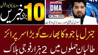 Top 10 with GNM || Today's Top Latest Updates by Ghulam Nabi Madni || Afternoon || 8 November 2020 |