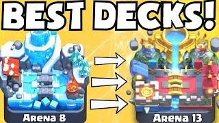 Clash Royale BEST DECK FOR ARENA 8 - ARENA 13   BEST UNDEFEATED ATTACK STRATEGY TIPS F2P PLAYERS