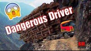 World Most Dangerous Idiots Heavy Truck Drivers in Mountain Road | Top Stupid Heavy Machine Operator