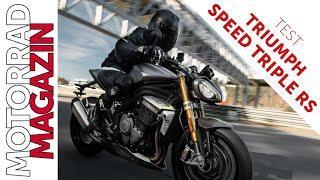 Triumph Speed Triple RS 2021 - 1. Test - 180 PS und 10 Kilo weniger - Zerstört sie die Hyper-Nakeds?
