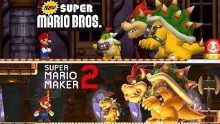 New Super Mario Bros DS Final Castle Recreated in Super Mario Maker 2