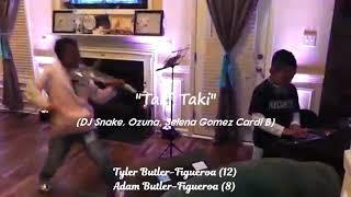 Taki Taki (DJ Snake, Ozuna, Selena Gomez, Cardi B) VIOLIN  Tyler Butler-Figueroa #AGTChampions #AGT