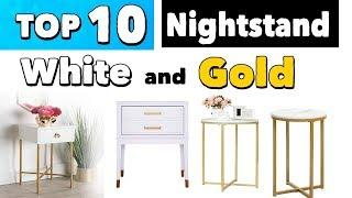 Best White Nightstand With Gold Accents