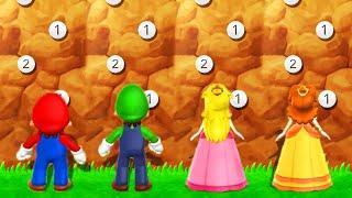 Mario Party 9 - Minigames (Peak Precision) - Mario vs Luigi vs Peach vs Daisy