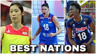 TOP 10 Best Volleyball Nations | FIVB Ranking - Women's (HD)