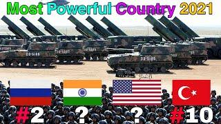 Top 10 Most Powerful Country in The World 2021 | Most Powerful Country | Top 10 Reviews