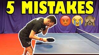 These 5 Mistakes Make You An Average Table Tennis Player