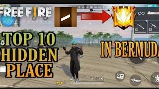 TOP 10 HIDDEN PLACE IN FREE FIRE BERMUDA|NEW HIDDEN PLACE AFTER UPDATE|LUCIFER OFFICIAL GAMING