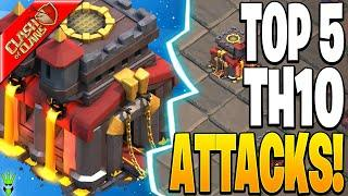 TOP 5 TH10 ATTACKS FOR CWL!! - Clash of Clans