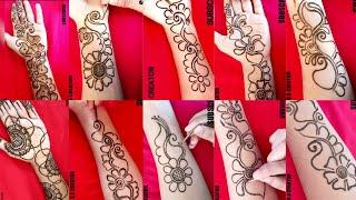 Top 10 Easy And Beautiful Front Hand Arabic Mehndi Design | Full Front Hand Mehndi Design Rakhi/Eid