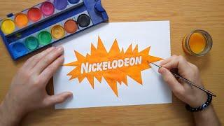 How to draw an old Nickelodeon logo from the 90s