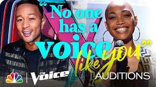 """Cedrice Completes Team Legend, Singing the Peggy Lee Tune """"Fever"""" - The Voice Blind Auditions 2020"""
