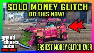 EVEN EASIER/FASTER SOLO MONEY GLITCH NO MOC CAR DUPLICATION GLITCH GTA 5 ONLINE PS4 /XBOX